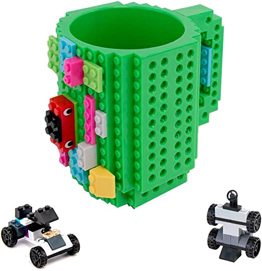 Build-on Brick Coffee Cup DIY Block Puzzle Tea Beverage Mug Christmas Gift Toy#D