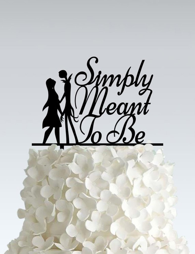 Acrylic Wedding Cake Topper - Nightmare Before Christmas - Simply neant to be by Frog Studio Home (Image #1)
