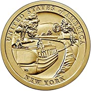 2021 P, D American Innovation New York - Erie Canal $1 Coin - P and D 2 Coin Set Uncircualted