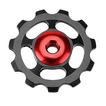 Trendyest desviador de Ruedas Trasero Rueda de Aleación de Aluminio MTB para Bicicletas, Cojinete de Cerámica, Rueda 11T, Cambio Trasero (Negro): Amazon.es: ...