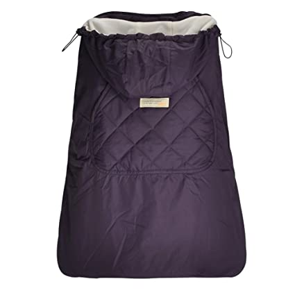 1651003fe77 Bebamour Universal Hoodie All Seasons Carrier Cover for Baby Carrier Cover  for Winter Warm (Dark Purple)  Amazon.co.uk  Baby