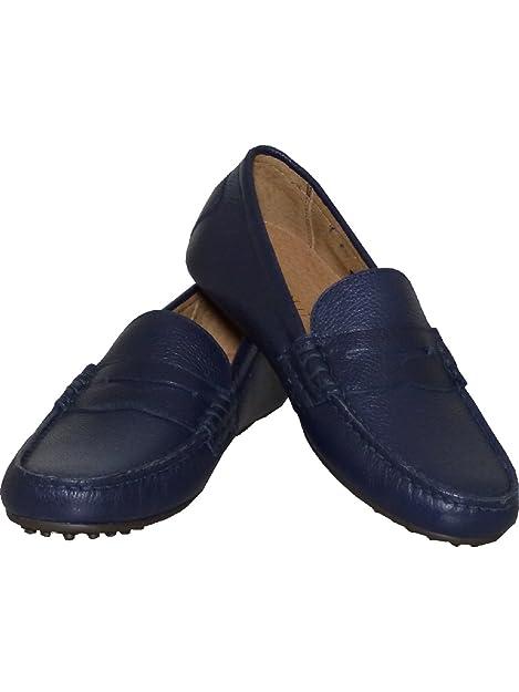 Ralph Lauren - Mocasines de Piel Vuelta para hombre, color azul, talla 44 EU: Amazon.es: Zapatos y complementos