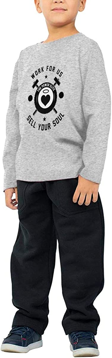 Gift for Worker Or Employee of The Month Childrens Long Sleeve T-Shirt Boys Girls Cotton Tee Tops