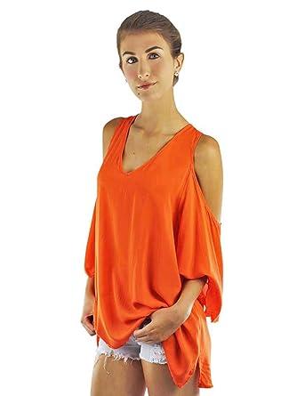 fb86b33e3ec31 Oversize Boho Top with Peek-A-Boo Shoulders at Amazon Women s ...