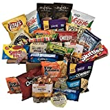 College Care Package for Students - Over 4 lbs. of Sweet & Savory Snacks - Perfect for Guys, Girls, Military Overseas, Students - Cookies, Bars, Chips, Candy, Soups, Meats