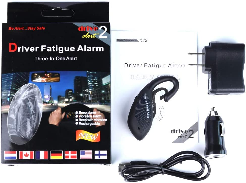 REARAND Driver Fatigue Alarm 3 in 1 Inside Sleep Alarm for Drivers Security Guards Nap Zapper Alarm Security Car Alarm System Drivers Security Guards