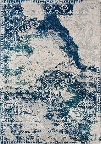 - Momeni Rugs LOFT0LO-09BLU2030 Loft Collection, Contemporary Area Rug, 2' x 3', Blue