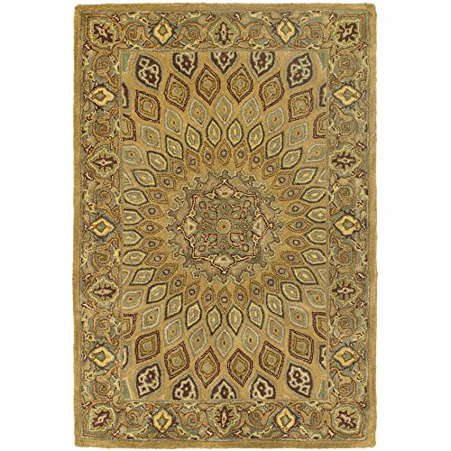 Butler Furniture Heritage Collection (Safavieh Heritage Collection HG914A Handmade Traditional Oriental Light Brown and Grey Wool Area Rug (4' x)