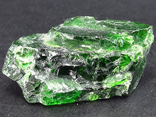- Gem Chrome Diopside Crystal From Russia - 56 Carats - 1.5