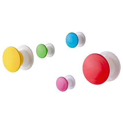 Ikea Losjon Lot de 5 crochets muraux pour enfant Multicolore