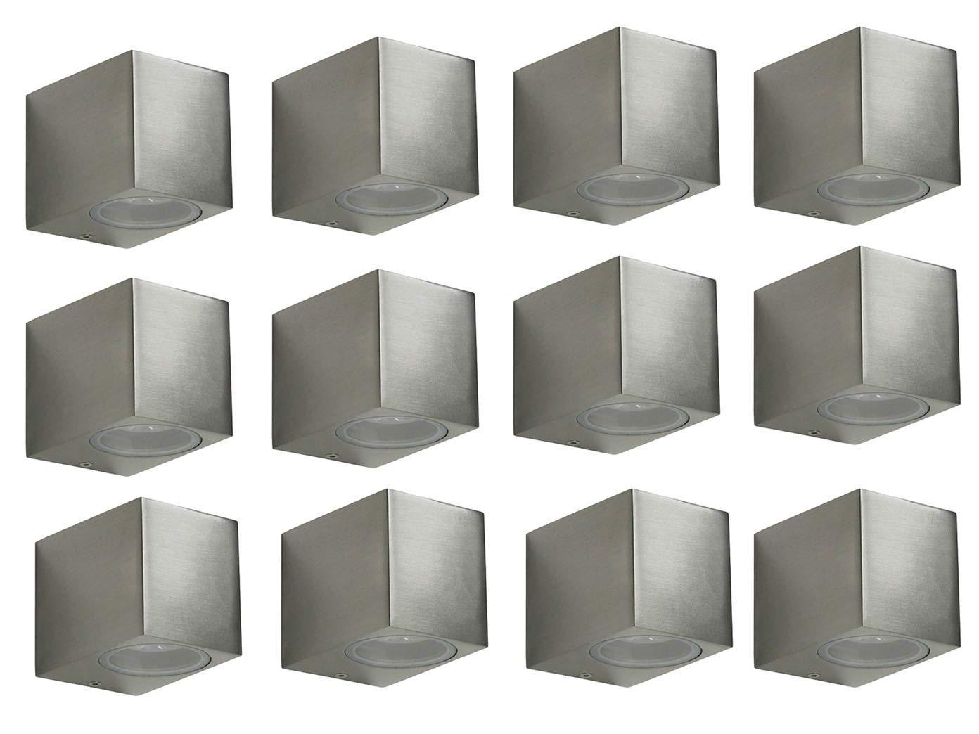 Set of 12Mika Ranex XQ1272SMD LED Wall Light–Cube Downlight, 160LM, WARM, IP44, 5000.46412