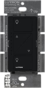Lutron Caseta Smart Home Dimmer Switch, Works with Alexa, Apple HomeKit, and the Google Assistant | for LED Light Bulbs, Incandescent Bulbs and Halogen Bulbs | PD-6WCL-BL | Black