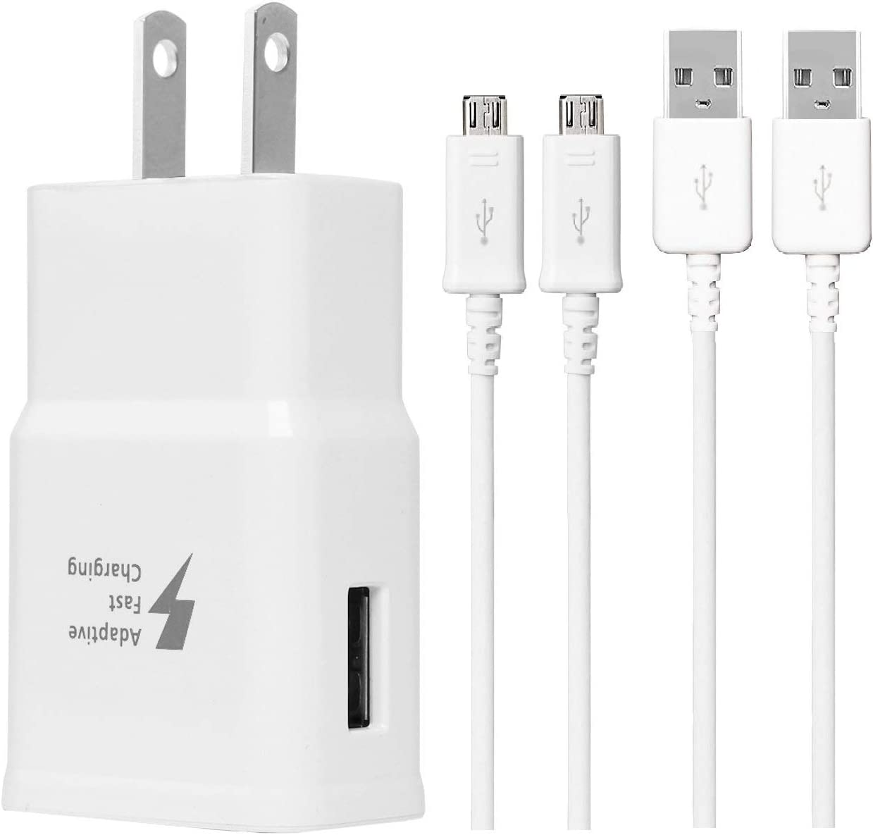 Adaptive Fast Charger,Made for Samsung Galaxy Tab A 10.1 (2016) Tablet,Tab E 8.0 Tablet,S7,S7 Edge S6,S6,Note 4 Tab S 10.5,A 9.7,4, Home Wall Charger + USB Cable
