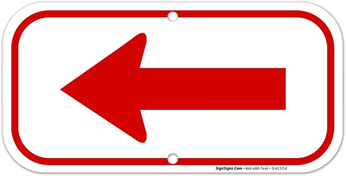 ENTRANCE LEFT ARROW RED PARKING LOT Yard Sign ROAD SIGN with stand