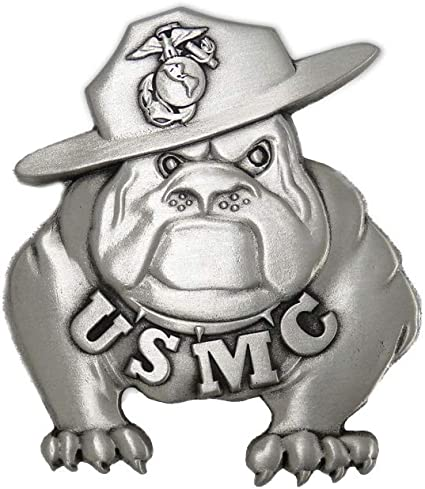 Military Belt Buckle metal USMC Bulldog /& Flags NEW