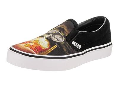 703a68dfd9 Vans Classic Slip On Alien Attack Black True White Skate Shoes 10.5 Kids