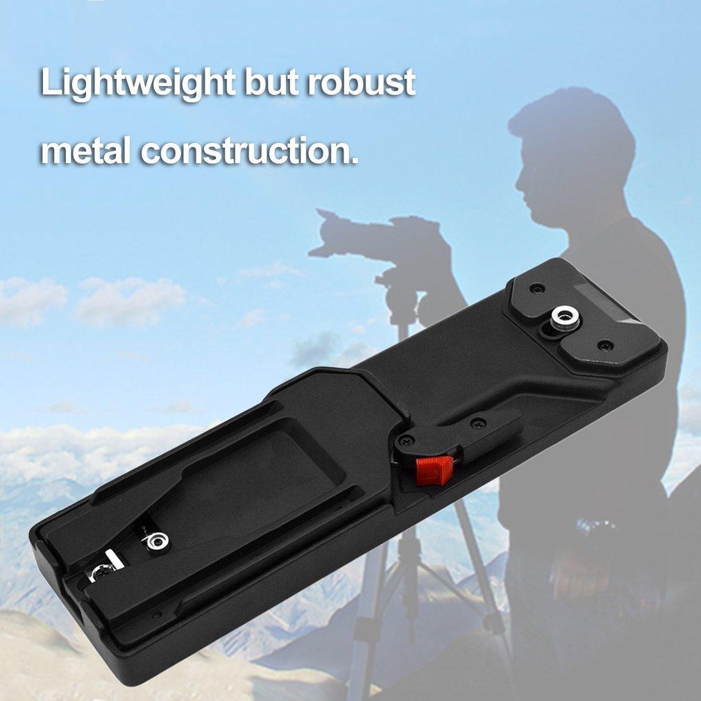 VCT-14タイプビデオカメラ三脚Vマウント クイックリリース 丈夫なプレートアダプター(カラー:ブラック)   B07FZXKBM1