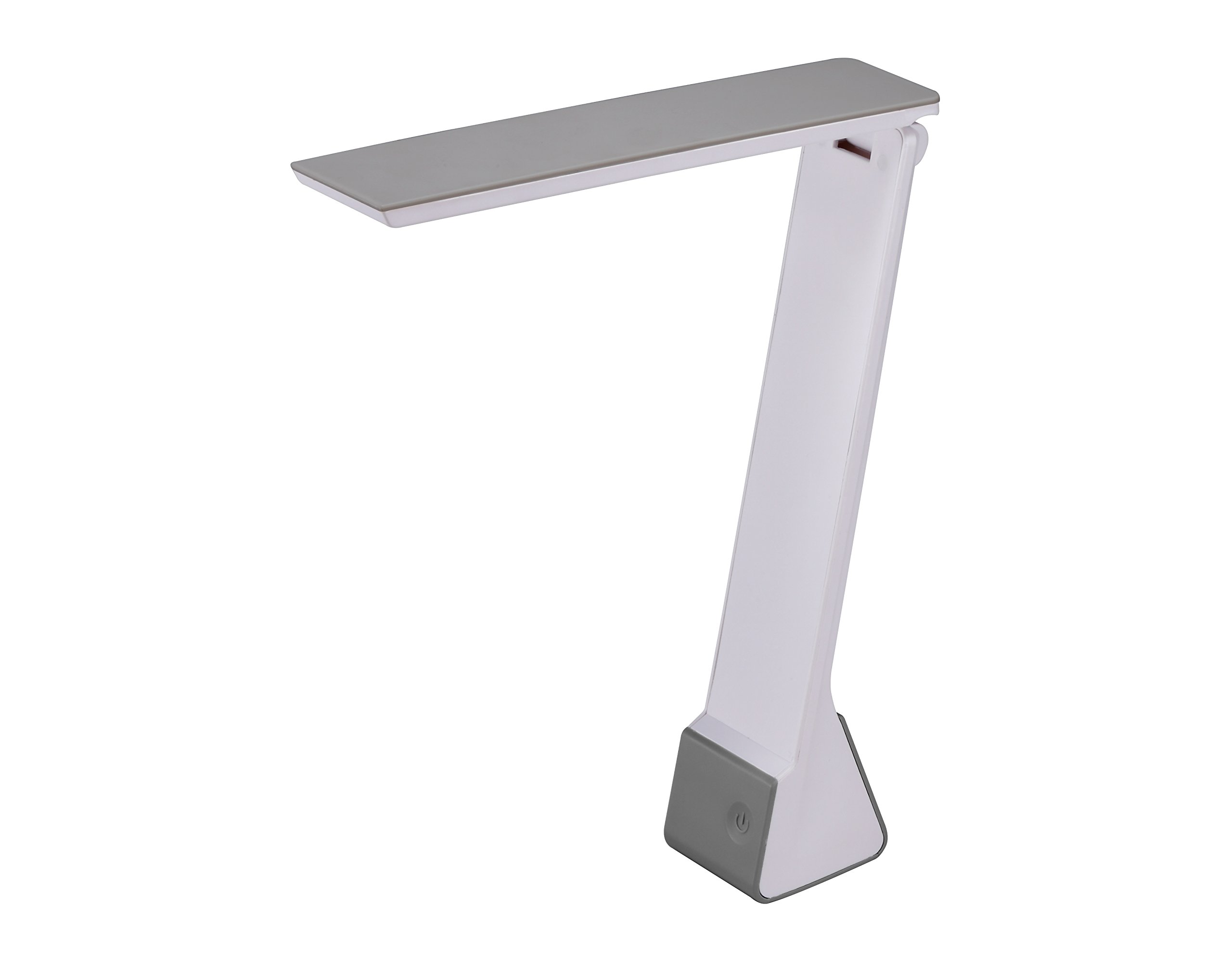 Bostitch Office KT-VLED1810-GRAY Powered Rechargable Battery LED Desk Lamp, 3 Color Temperatures, Flip Open, Gray