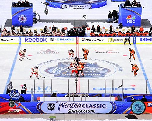Philadelphia Flyers New York Rangers 2012 Winter Classic Opening Face Off Action Photo (Size: 11