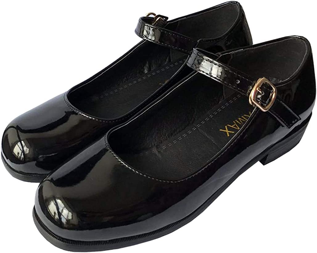 LUXMAX Womens Patent Leather Mary Jane