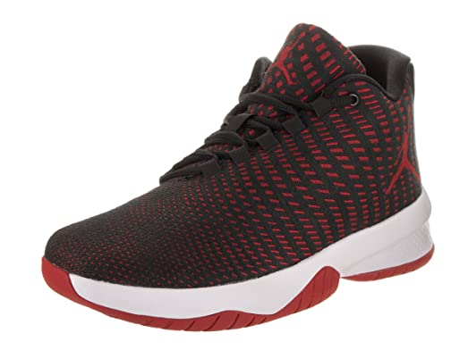 Men's Jordan B Fly - Black/Gym Red/Dark Grey/White
