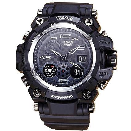 Amazon.com: AKwell Reloj LED Hombres Impermeable Deportes ...