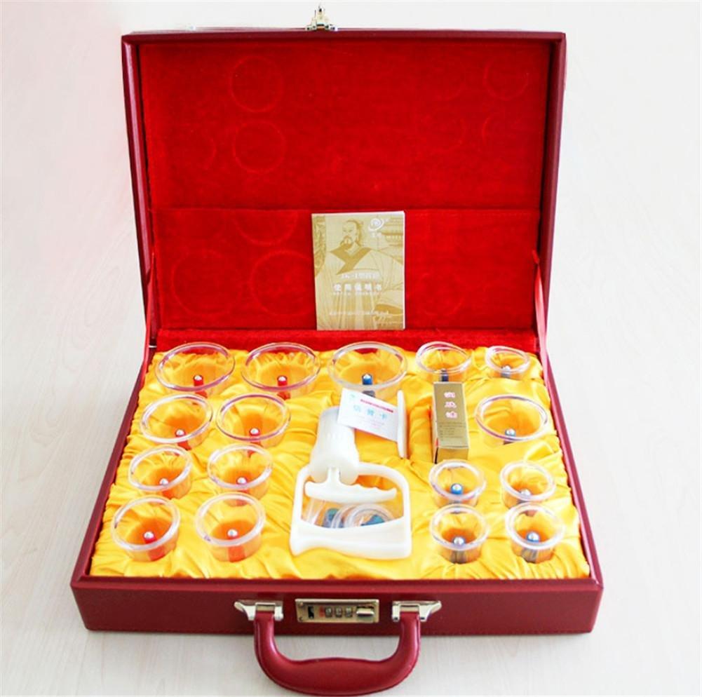Haushalt Schröpfen Vakuum Kunststoff Schröpfen 16 Dosen High-End-Geschenk-Box