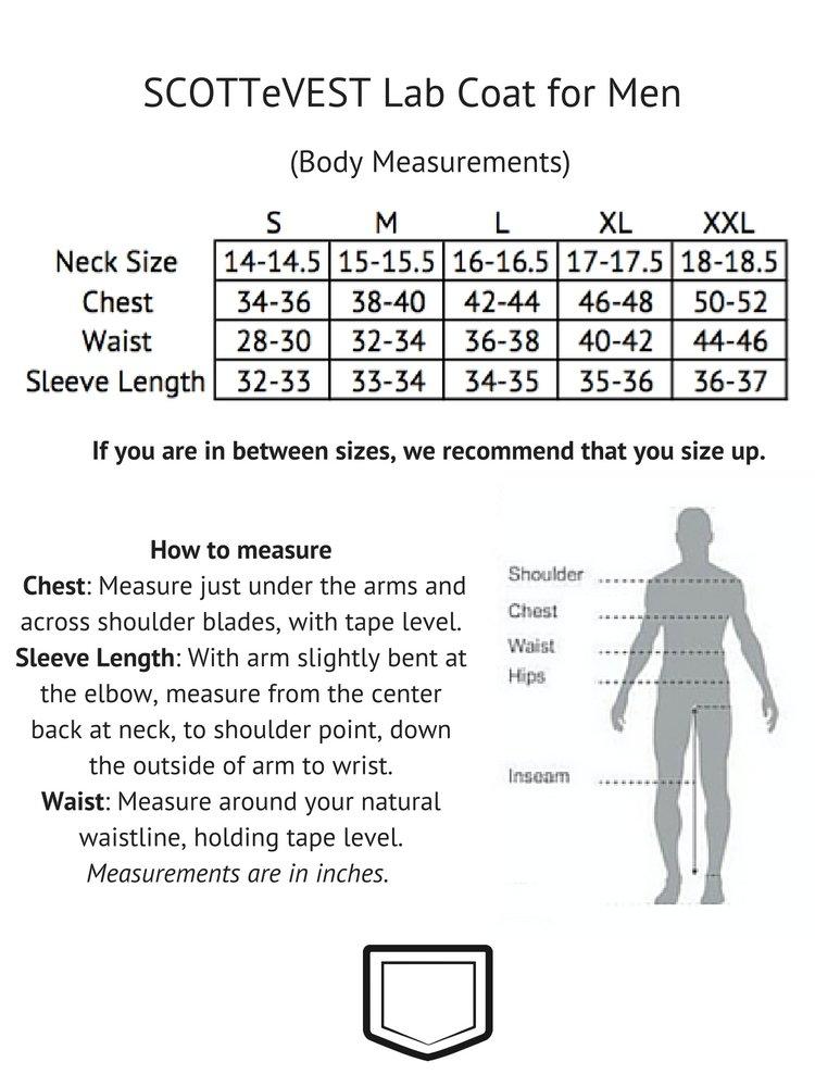 SCOTTeVEST Men's Lab Coat - 16 Pockets - Medical Uniform, Pickpocket Proof XL by SCOTTeVEST (Image #7)