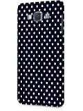 Cover Affair Polka Dots Printed Designer Slim Light Weight Back Cover Case for Samsung Galaxy A5 2015 Model (Black & White)
