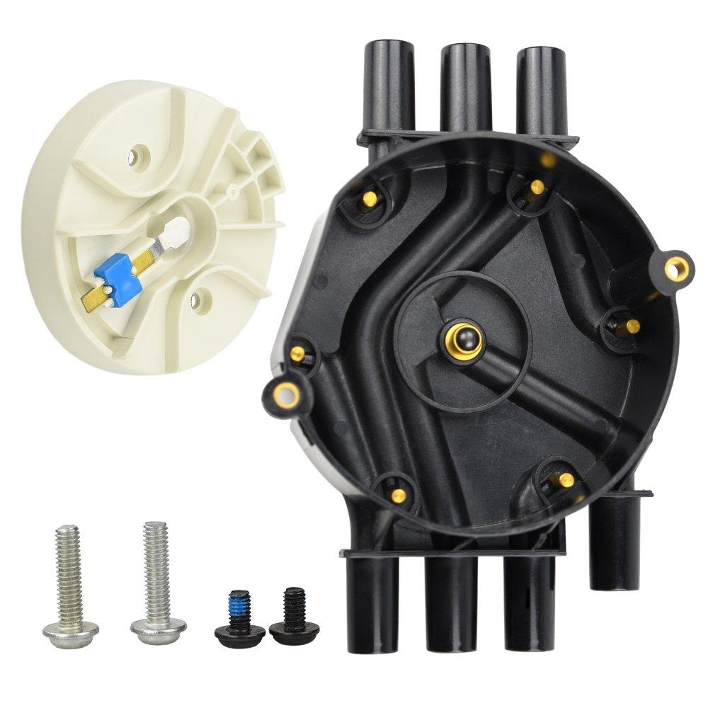 DR474 DR331 Distributor Cap W/Rotor Kit For Chevrolet GMC Tahoe Vortec V8 5.7L (V6 Distributor Cap)