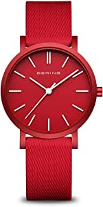 BERING Reloj Analógico True Aurora Collection para Unisex de Cuarzo con Correa en Silicona y Cristal de Zafiro 16934-599