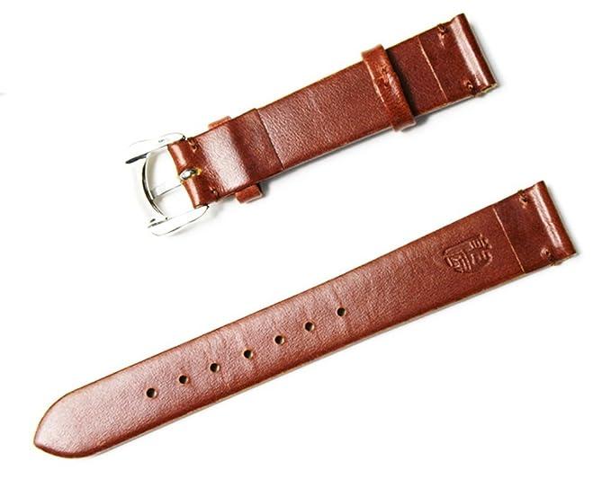 Piel correa de reloj banda hebilla de acero inoxidable 12 mm 14 mm 16 mm Silicona reloj banda: Amazon.es: Relojes