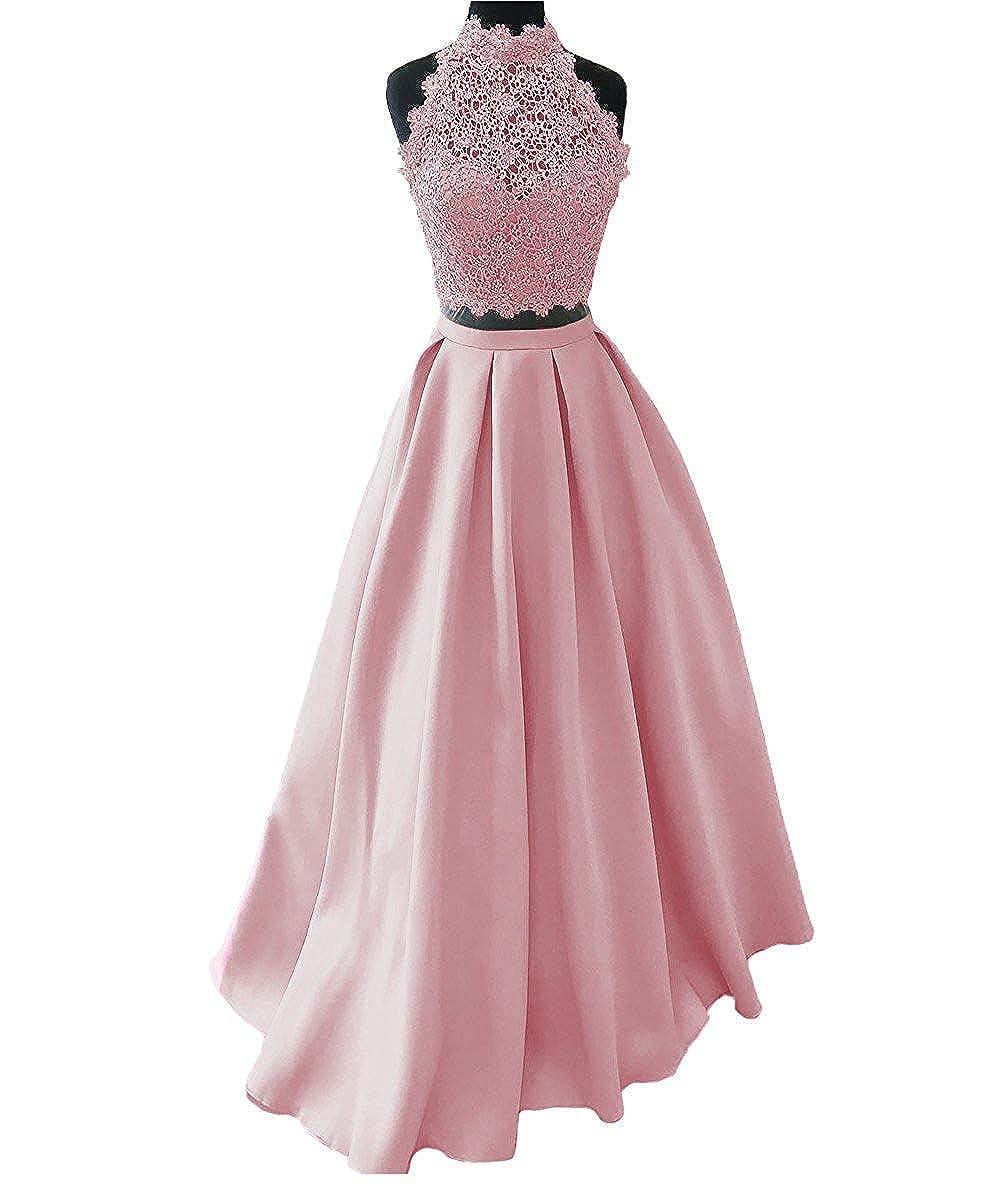 bluesh Ellenhouse Women's Long High Neck Two Pieces Prom Party Evening Dresses