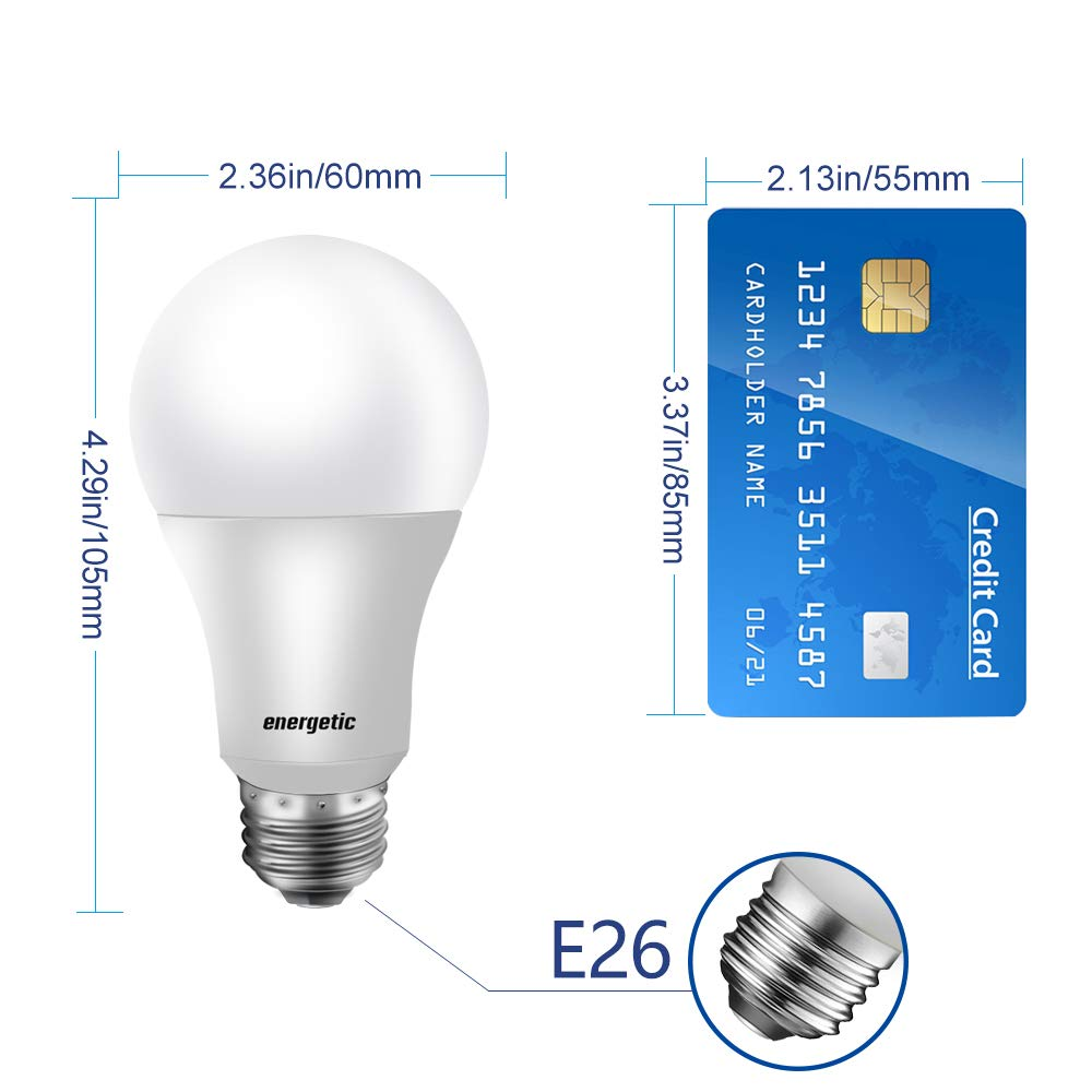 A19 Bulb,40 Watt Equivalent, 3000K Warm White, E26 Standard Base, Non-Dimmable,UL Listed LED Light Bulb,8-Pack