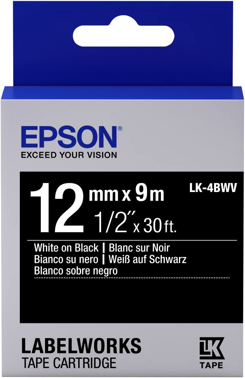 vhbw Cassetta Nastro Cartuccia 6mm per Epson LW-700 OK900P sostituisce LC-2SBE SM6X. LW-900P LW-400 OK200 OK500P OK300 LW-500 OK720 LW-300