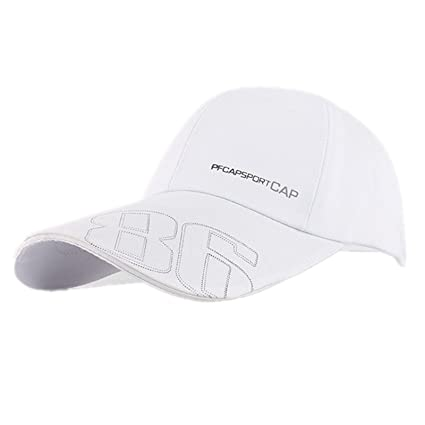 a94433623b2 Image Unavailable. Image not available for. Color  AnHua®100% Cotton Men  Women Fitted Curved Bill Plain Solid Blank Baseball Adjustable Cap
