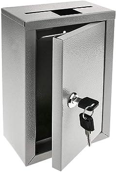 PrimeMatik - Buzón de devolución de Llaves. Urna de donativos Gris. Caja de Pared 140 x 76 x 232 mm: Amazon.es: Electrónica