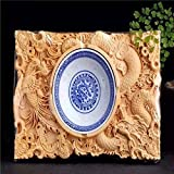 SSBY Boxwood Carving Ashtrays Handicrafts Gifts Of Carving Wood With Gift Box