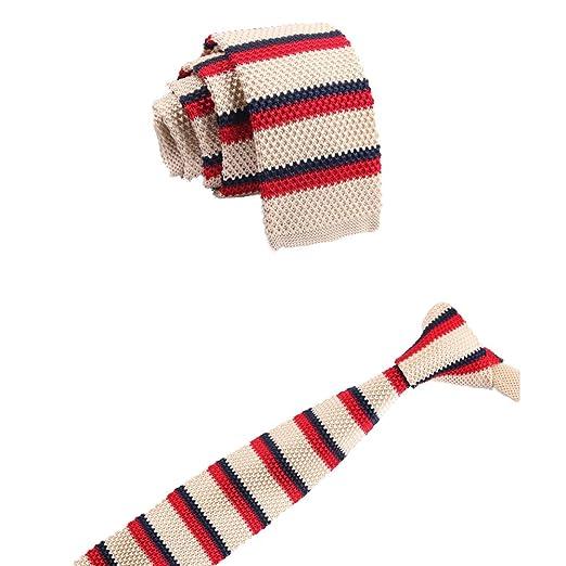 WDOIT Mode rayé Cravate pour Homme en Tricot Fermeture Éclair ...