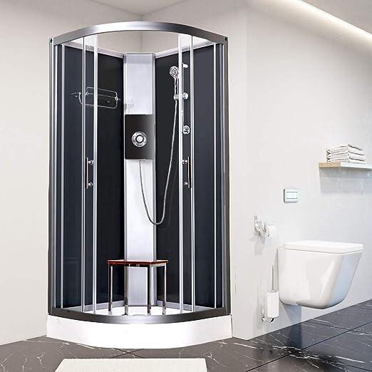 Vidalux Pure E Black - Cabina de ducha eléctrica (800 x 800 ...