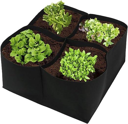 JYCRA - Kit de cultivo para jardín o patio de tela para plantas, macetas para plantas, verduras, flores: Amazon.es: Jardín