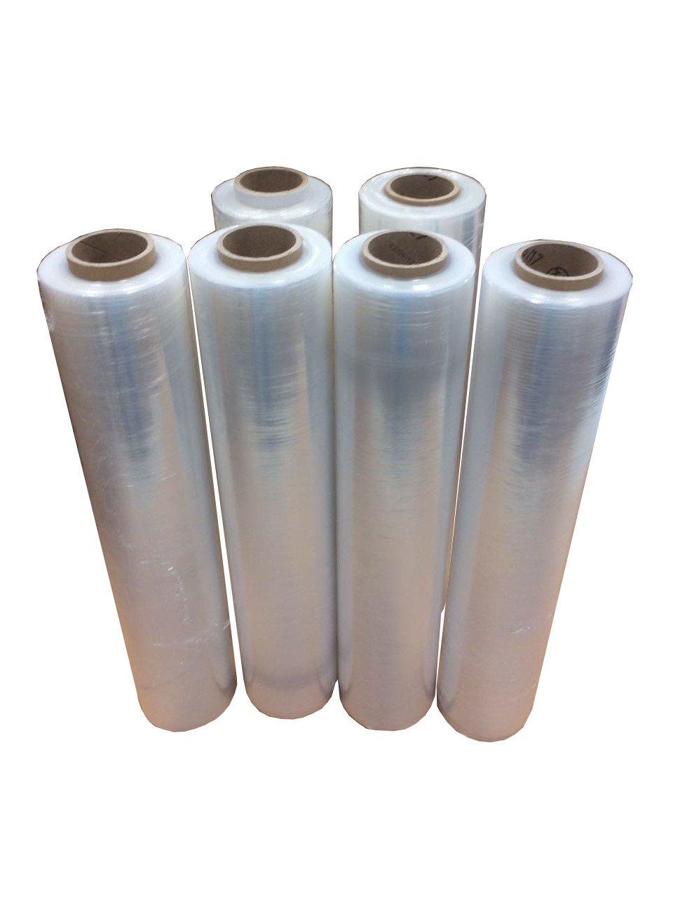 6 X Pellicola estensibile trasparente pellicola elasticizzata stretch Pellicola 500 mm 1, 5 kg 5kg Stretchfol