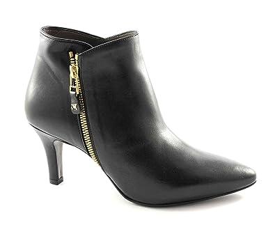 Melluso Z061 femme noire chaussures bottes talons zip côté Nero - Chaussures Bottine Femme