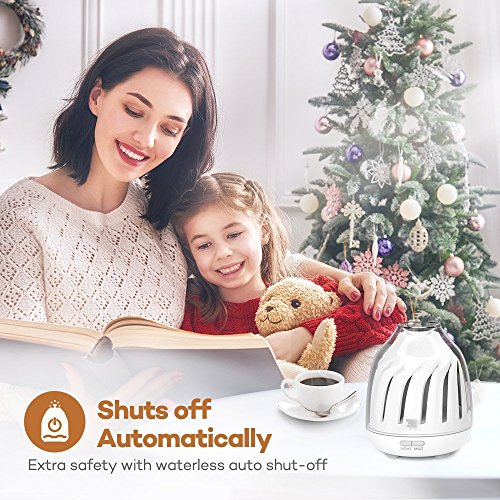 TaoTronics Diffuser, No-Beep Sound Essential Oil Diffusers, Silent Operation 120ml Aromatherapy Diffuser Kids (Breathing Light, 5 LED Colors, 2 Mist Modes Ultrasonic, Waterless Auto Shut Off) by TaoTronics (Image #5)