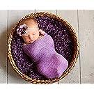 Newborn Photo Prop Stretch Wrap Baby Photography Knit Wrap Props - Several Colors! (Lavander)