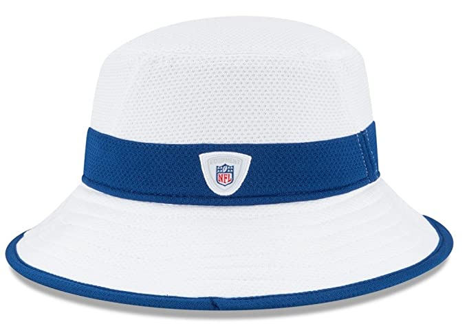 6bef161d Amazon.com : Indianapolis Colts New Era NFL 2015 Training Camp Sideline  Bucket Hat - White : Sports & Outdoors
