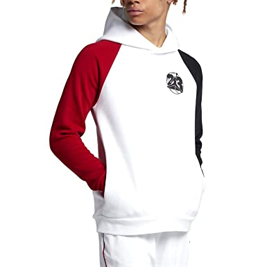 7a363bfc92c452 Jordan Air 13 Jumpman GFX Pullover Men s Hoodie White Red Black ar9780-100