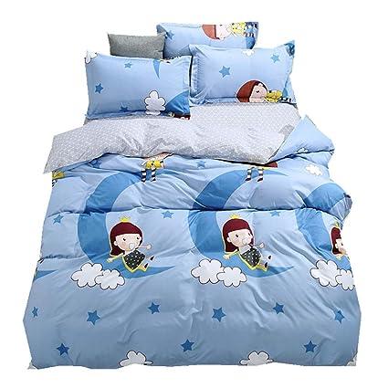 Bettwäsche Sets 4 Stück Polyester Bettbezug Sets Bulldogge Einhorn