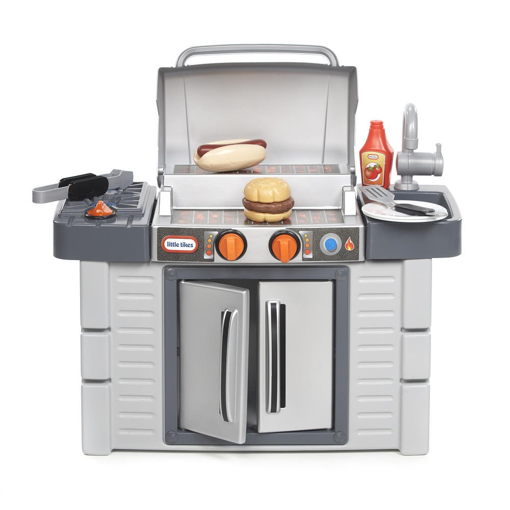 Amazon.com: Little Tikes Kitchen Cook \'n Grow BBQ Grill Playset Toy ...