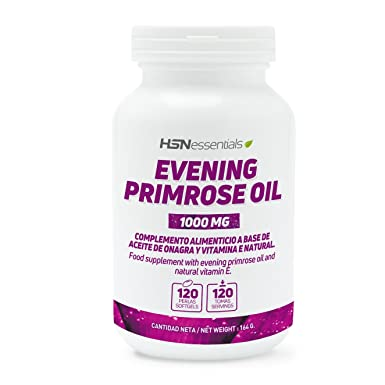 HSN Essentials – Aceite de Onagra 1000mg - (10% GLA) - 120 perlas